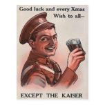 Tarjeta postal de Navidades de la Primera Guerra M