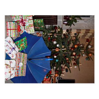 Tarjeta postal - las navidades con la visera Azul