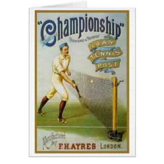 Tarjeta Poste de los tenis sobre hierba del campeonato
