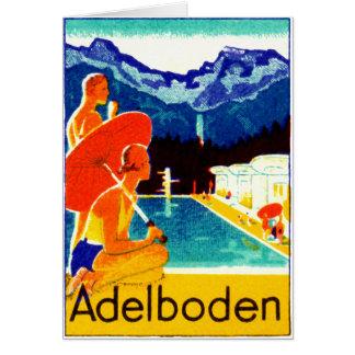 Tarjeta Poster 1925 de Adelboden Suiza