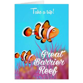Tarjeta Poster del dibujo animado de los pescados del