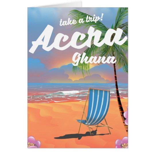 Tarjeta Poster del viaje de la playa de Accra Ghana