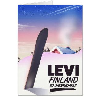 Tarjeta Poster del viaje de la snowboard de Levi Finlandia