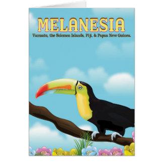 Tarjeta Poster del viaje de Melanesia Toucan