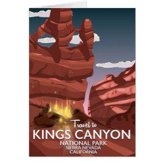 Tarjeta Poster del viaje de reyes Canyon Sierra Nevada