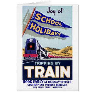 Tarjeta Poster del viaje del vintage de Nueva Zelanda