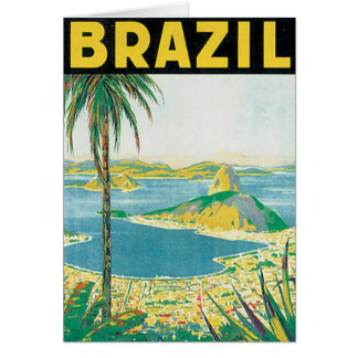 Tarjeta Poster del viaje del vintage del Brasil