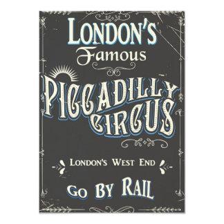 Tarjeta Poster del vintage de Londres del circo de