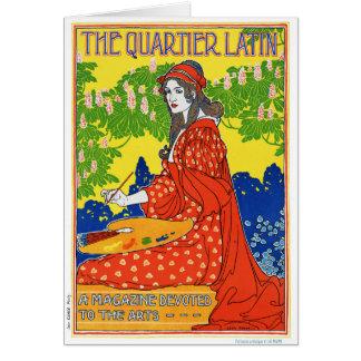 Tarjeta Poster francés de la revista del vintage