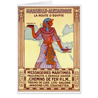 Tarjeta Poster restaurado Egipto del viaje del vintage de