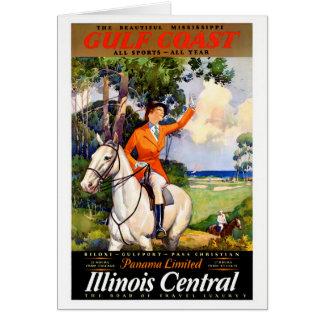 Tarjeta Poster restaurado Mississippi del vintage de