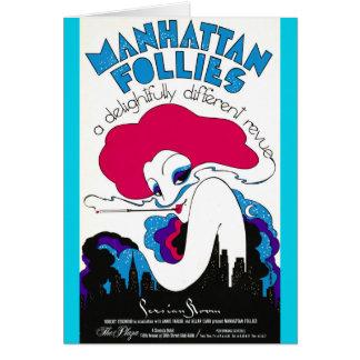 Tarjeta Poster retro 1979 del teatro