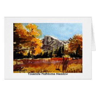 Tarjeta Prado de Yosemite Halfdome