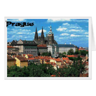 Tarjeta Praga en azul