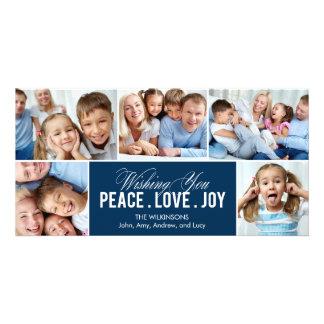 Tarjeta preciosa de la foto del día de fiesta del plantilla para tarjeta de foto