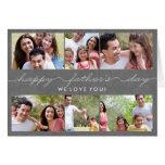 Tarjeta preciosa de la foto del día de padres de l