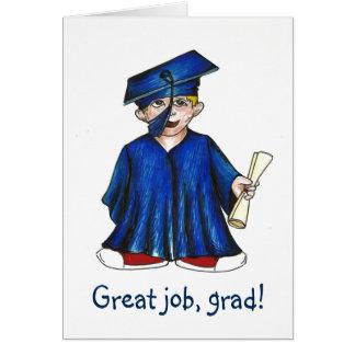 Tarjeta preescolar de la graduación