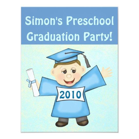 Tarjeta Preescolar de los muchachos/fiesta de graduación