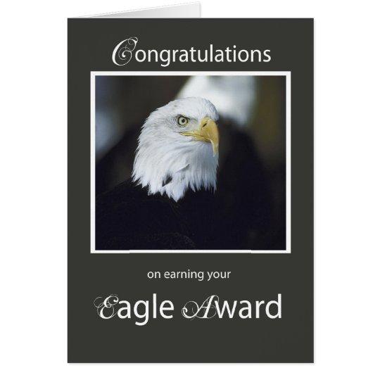 Tarjeta Premio de 4101 Eagle, enhorabuena