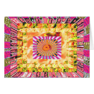 Tarjeta Presentación artística de la sol y del collage de
