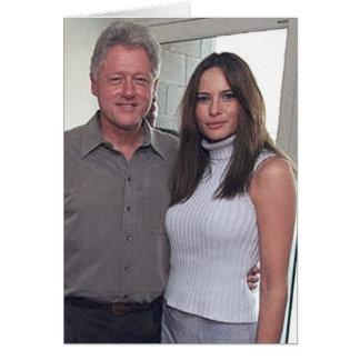 Tarjeta Presidente Bill Clinton y triunfo de Melania