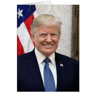 Tarjeta Presidente Donald Trump