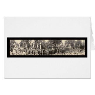 Tarjeta Presidente Harding Funeral Photo 1923