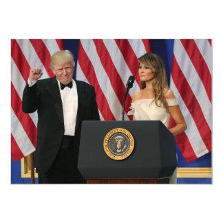 Tarjeta Presidente y primera señora Trump At Inauguration