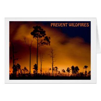 Tarjeta Prevenga el incendio fuera de control
