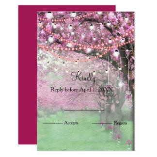Tarjeta Primavera de la flor de cerezo que casa RSVP