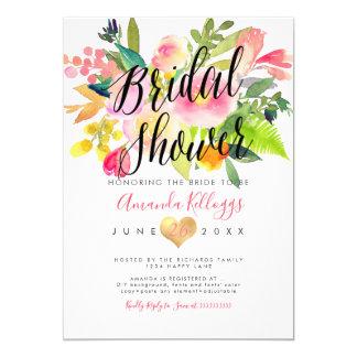 Tarjeta Primavera nupcial de la ducha de PixDezines floral
