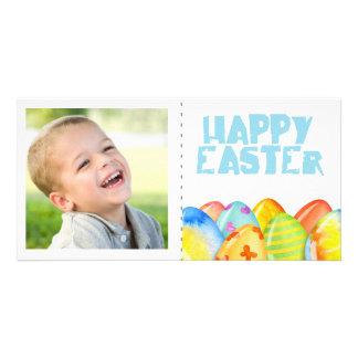 Tarjeta Primavera Pascua colorida solo Photocard