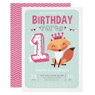 Tarjeta Primer cumpleaños de las rosas fuertes lindas de