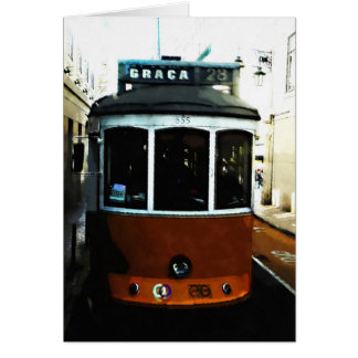 Tarjeta Primer de la tranvía de Lisboa