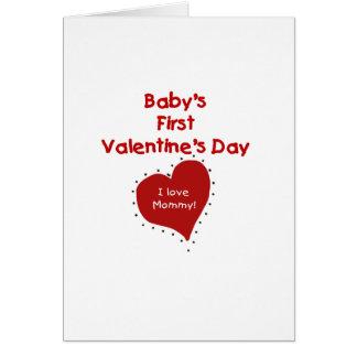 Tarjeta Primer día de San Valentín del corazón I de la