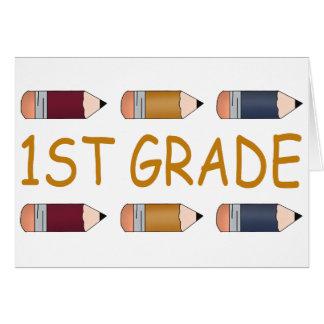 Tarjeta Primer lápiz de la escuela primaria