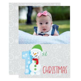 Tarjeta Primer navidad del bebé