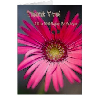 Tarjeta Primer rosado de la flor del Gerbera