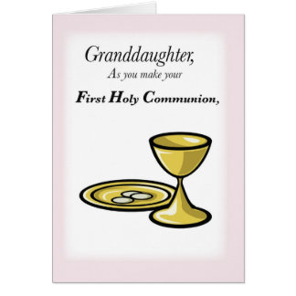 Tarjeta Primera comunión de la nieta