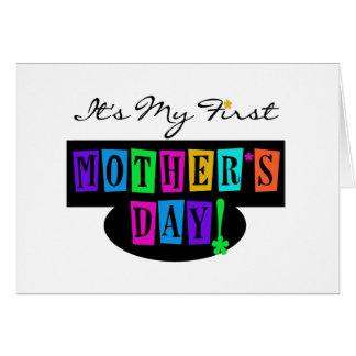 Tarjeta Primeras camisetas y regalo del día de madre de