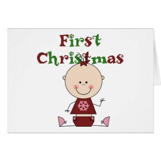 Tarjeta Primeras camisetas y regalos del navidad de la