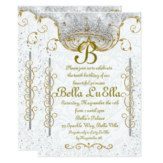 Tarjeta Princesa Bling Diamond Party Invitations