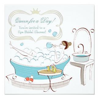 Tarjeta Princesa Bride Spa Bridal Shower