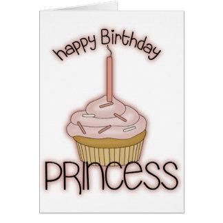 Tarjeta Princesa del feliz cumpleaños