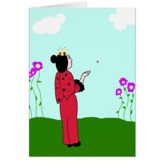 Tarjeta Princesa Lets Go Card de la mariquita