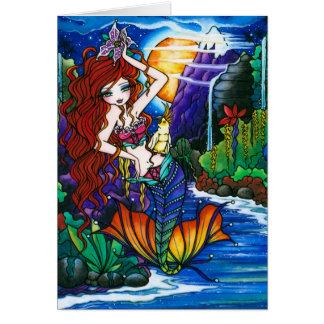 Tarjeta Princesa Mermaid Fairy Cockatoo Card de Maui