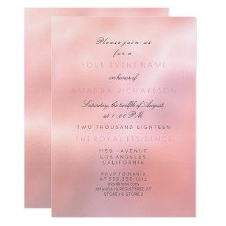 Tarjeta Princesa nupcial elegante del brillo rosado mínimo