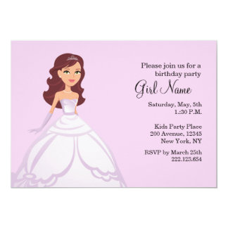 Tarjeta Princesa Party Invitation