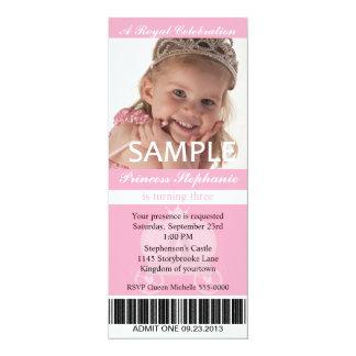 Tarjeta Princesa Party Ticket de la foto