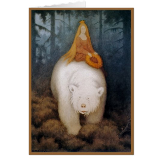 Tarjeta Princesa Riding rey oso polar